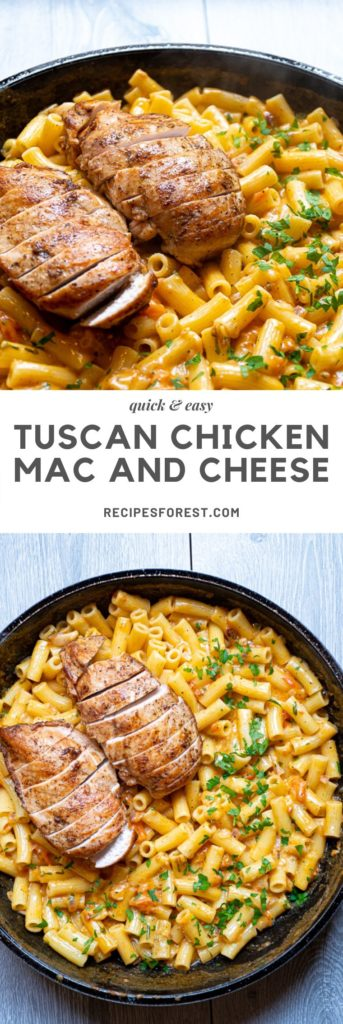 Tuscan Chicken Mac and Cheese, Dinner recipe easy, dinner recipe, recipe, chicken recipe, #foods #cooking #dinner #recipes to make #eating #best recipes #delicious recipes #foodies #healthy recipes #meals recipes #dishes